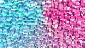 Абстрактная простая голубая розовая низкая поли поверхность 3D как корпоративная предпосылка Мягкая геометрическая низкая поли пр иллюстрация вектора
