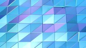 Абстрактная простая голубая фиолетовая низкая поли поверхность 3D как геометрическая сетка Мягкая геометрическая низкая поли пред иллюстрация вектора