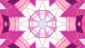 Абстрактная простая предпосылка 3D в красном фиолетовом цвете градиента, низкий поли стиль как современная геометрическая предпос бесплатная иллюстрация