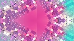 Абстрактная простая предпосылка 3D в красном цвете градиента бирюзы, низкий поли стиль как современная геометрическая предпосылка бесплатная иллюстрация
