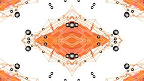 Абстрактная простая предпосылка 3D в оранжевом цвете градиента, низкие поли стиль как современная геометрическая предпосылка или  иллюстрация штока