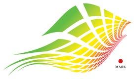 абстрактная птица радужная иллюстрация штока