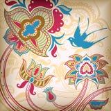 абстрактная птица флористическая Стоковые Фотографии RF