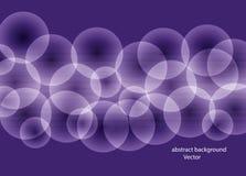Абстрактная пурпурная предпосылка с пурпурными прозрачными пузырями Фантастическое bokeh также вектор иллюстрации притяжки corel иллюстрация штока