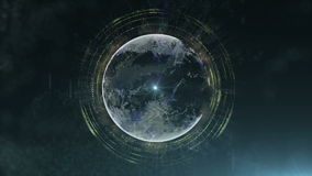 Абстрактная планета частиц видеоматериал