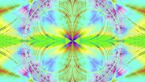 Абстрактная пластичная красочная предпосылка звезды/цветка с взаимообменивая волнистой декоративной картиной лучей и лучей в ярко иллюстрация штока