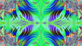 Абстрактная пластичная красочная предпосылка звезды/цветка с взаимообменивая волнистой декоративной картиной лучей и лучей, видео бесплатная иллюстрация