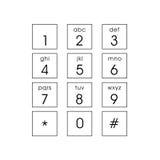 Абстрактная плоская кнопочная панель пользовательского интерфейса Стоковое Изображение RF