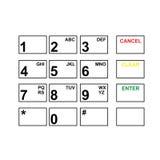 Абстрактная плоская кнопочная панель пользовательского интерфейса Стоковое Фото