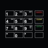 Абстрактная плоская кнопочная панель пользовательского интерфейса Стоковое фото RF