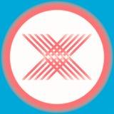 Абстрактная плоская предпосылка логотипа формы дизайна x Стоковые Фото