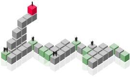 абстрактная работа команды группы делового клиента Иллюстрация вектора