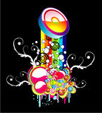 абстрактная радуга предпосылки Стоковое фото RF