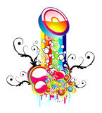 абстрактная радуга предпосылки Стоковая Фотография