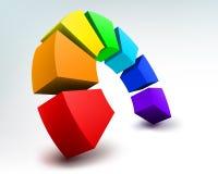 абстрактная радуга 3d Стоковое фото RF