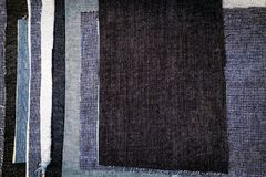 Абстрактная различная предпосылка текстуры нашивок джинсов стоковое фото