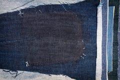 Абстрактная различная предпосылка текстуры нашивок джинсов стоковое фото rf