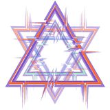 Абстрактная рамка в форме 6-остроконечной звезды с влиянием небольшого затруднения стоковая фотография rf