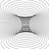 Абстрактная рамка дизайна червоточини Передерните космоса и времени Иллюстрация вектора изолированная на белой предпосылке иллюстрация вектора
