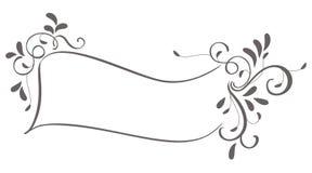 Абстрактная рамка листьев года сбора винограда изолированных на предпосылке Иллюстрация EPS10 каллиграфии вектора Стоковое Изображение RF