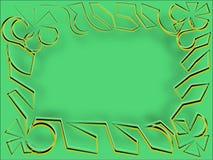 Абстрактная рамка на зеленых строках громоздкой пряжи Стоковые Изображения