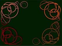 Абстрактная рамка на зеленых строках громоздкой пряжи Стоковое Изображение
