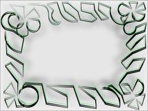 Абстрактная рамка на серых строках громоздкого серого потока Стоковое Изображение RF