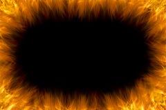 Абстрактная рамка огня на черной предпосылке Стоковая Фотография RF