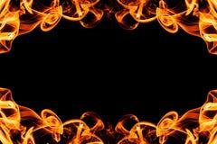 Абстрактная рамка от дыма огня с космосом экземпляра Стоковое Изображение