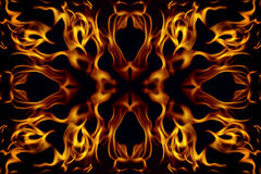 абстрактная рамка пожара Стоковая Фотография