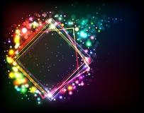 абстрактная рамка светя Стоковая Фотография RF