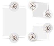Абстрактная рамка с элементами twirl Стоковое Изображение RF