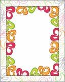 Абстрактная рамка цветка Стоковое Изображение RF