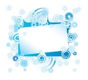 абстрактная рамка цветка Стоковое Фото