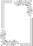 абстрактная рамка цветков Стоковое Фото