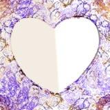 Абстрактная рамка для сердца поздравительной открытки Стоковое Изображение RF