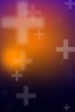 Абстрактная расплывчатая предпосылка с перекрестным знаком Стоковое Фото