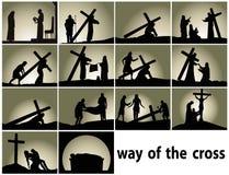 Абстрактная религиозная принадлежность с путем перекрестных станций бесплатная иллюстрация