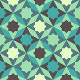 Абстрактная ретро геометрическая картина Стоковые Изображения