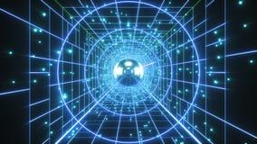 Абстрактная ретро полигональная предпосылка полета тоннеля лазера акции видеоматериалы