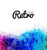 Абстрактная ретро триангулярная предпосылка, фон битника красочной радуги ретро иллюстрация вектора