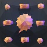 абстрактная речь origami пузыря Стоковая Фотография