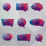 абстрактная речь origami пузыря Стоковое Изображение RF