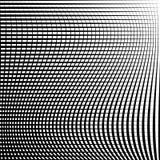 Абстрактная решетка, картина сетки с эффектом искажения Стоковая Фотография