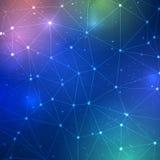 Абстрактная решетка треугольника на предпосылке науки Стоковая Фотография