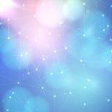 Абстрактная решетка треугольника на предпосылке науки Стоковые Изображения RF