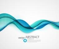 Абстрактная ровная иллюстрация волнового движения Стоковое Изображение RF