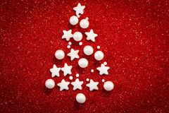 абстрактная рождественская елка предпосылки Стоковые Изображения