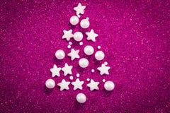 абстрактная рождественская елка предпосылки Стоковое Изображение RF