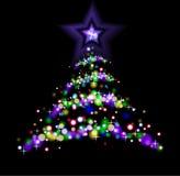 Абстрактная рождественская елка Стоковая Фотография RF